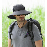 Men Plus Size Sunscreen Wide Brim UV Protection Fishing Hat Outdoor Summer Sun Hat