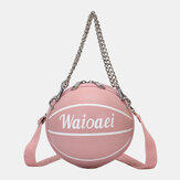 Wonmen Unique Design Basketball Look Solid Color HandBag Fashion Adjustable Shoulder Bag Cross Body Bag