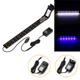 14W 53cm Blue & White LED Adjustable Aquarium Fish Tank Lamp Super Slim Clip On Light