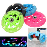 120mm LED Flash ilumine acima as rodas para o patins Inline 2 do patinete ABED-7 que carrega