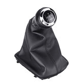 Leather Shifter Gear Shift Knob with Boot Cover Speed Handle For AUDI A3 A4 Q5 S3 S4
