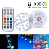 13LED 8.5cm Diameter RGB Submersible Light Colorful With IR Remote Control for Swimming Pool Party