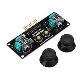 JoyStick 2 Channel PS2 Game Rocker Push Button Module Geekcreit for Arduino - products that work with official Arduino boards