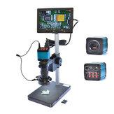 HAYEAR 14MP USB Digital Industry Microscope Camera 100X Zoon C-mount Lens 4GB TF Card + 7