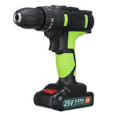 25V 2200mAh Li-ion Battery Cordless Power Impact Drill Driver Electric Screwdriver
