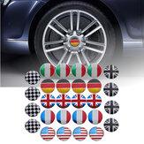 4x 56mm 3D alliage voiture roue centre Hub Cap Badge drapeau emblème autocollant universel
