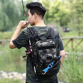 Men Nylon Camouflage Tactical Travel Outdoor Large Capacity Multi-pocket Backpack For Fishing Climbing