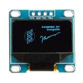 0.96 Pollici 4Pin IIC I2C SSD136 128x64 DC 3V-5V Blu OLED Display Modulo Geekcreit per Arduino - prodotti che funzionano con schede Arduino ufficiali