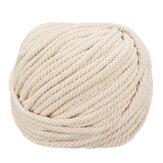 6mmx50m Naturbaumwolle Twisted Cord Rope Craft Macrame Geflochtener Draht