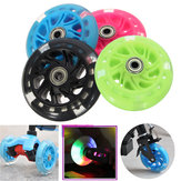 100mm LED Flash Light Up Wheels For Mini Micro Scooter With 2 ABED-7 Bearings