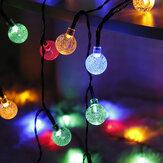 20/50/100 LED 5/7/12m Solar String Light 1.7cm Diameter Ball Shape Waterproof Fairy Outdoor Party Garden