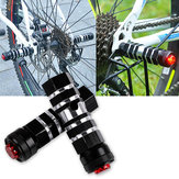 BIKIGHT Aluminum Alloy Bike Bicycle Foot Pegs Rest With Safety Warning Light Cycling Rear Pedals