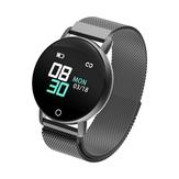 Bakeey R1 Blutdruck-Schlafmonitor 9 Sportmodus IP67 Helligkeitsregelung Mesh Steel Smart Watch
