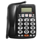 KX-2035CID Téléphone avec fil à 2 lignes avec haut-parleur Numérotation abrégée Téléphone avec fil Afficheur à appel entrant avec identification de l'appelant pour le bureau à domicile