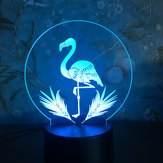 3D Night Light Touch Coloreful Flamingo LED Tavolo lampada Regalo di compleanno