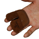 Archery Finger Guard Protector Cow Leather Finger Tab Right Hand For Recurve Bow Hunting Shooting