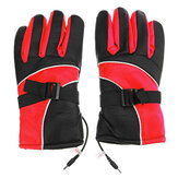 12V/48V Electric Heated Glove Warm Waterproof Gloves Winter Motorcycle Motorbike Riding Outdoor Thermal Equipment