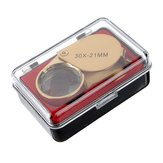 Emas 30 X 21mm Jeweler Loupe Magnifying Eye Kaca Magnifier Baru