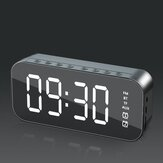 Bakeey H21 Altavoz bluetooth inalámbrico Mini LED Alarma doble Reloj FM Radio Tarjeta TF Barra de sonido auxiliar Subwoofer con micrófono