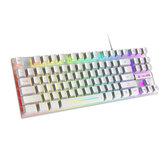 ZIYOULANG K16 játékbillentyűzet 87 kulcs USB vezetékes RGB szivárvány háttérvilágítású vízálló mechanikus tapintó billentyűzet otthoni irodához