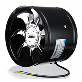 8 Inch 220 V 80 W Inline Duct Fan Booster Uitlaat Blower Luchtkoeling Vent Rvs Vin