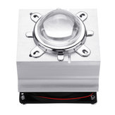 DC12V 20-60W Aluminium LED Heat Sink Cooling Fan 60° 120° 44mm Lens + Reflector Brack+ Fixed Bracket