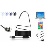 2 in 1 5mm 6LED IP67 Micro USB/USB Endoscope Borescope Inspection Camera Soft Cable for Android PC