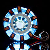 MK2 Acrilico Tony ARC Reactor Modello Kit FAI DA TE Cassa USB lampada Puntelli Movie Illuminante LED Flash Set di luci Regalo