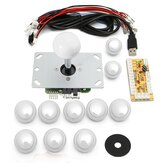 2Pcs White Game DIY Arcade Game Console Set Kits Replacement Parts USB Encoder to PC Joystick and Buttons