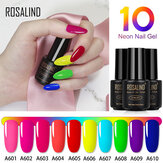 ROSALIND 7ml 10 Color Remojo Salón UV LED Uña Gel Polaco