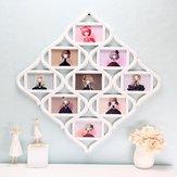 عقدة الصينية 9 صورة صورة إطار الصورة الكلية صورة الجدار شنقا ديكور الزفاف هدية