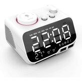 Sveglia Uplift Radio Bluetooth Altoparlante Batteria Orologio di backup con dimmer FM Radio Snooze 2 porte di ricarica USB Termometro Orologio