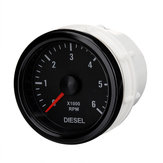 52mm 0-6000 RPM (On dash) Electrical Tachometer Gauge for Diesel Motor Engine