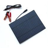5W 18V Przenośny panel słoneczny z polikrystalicznego krzemu z zaciskiem baterii DC5521