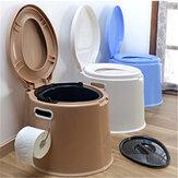 Toilette da viaggio portatili Compatti Sedili con secchio Vasino Serbatoio dei rifiuti Bagno interno leggero per campeggio Escursionismo Nautica Caravan Campeggio Ospedale