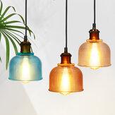 E27 Lampada da soffitto in vetro stile loft industriale vintage retrò lampada Lampada a sospensione con paralume