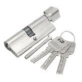 Cylindre de Serrure en Aluminium avec 3 Clés Pour Porte de Cabinet Sécurité de Maison