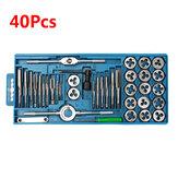 Definir parafuso porca ferramentas manuais liga metálica m3-m12 Pro 40pcs métrica chave de torneira e morrer