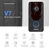 Eken V7 Wireless WiFi Intelligent Visual 1080P Campainha de vídeo porteiro de visão noturna Campainha de indução Olho de gato