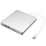 Prata USB3.0 CD de unidade externa DVD Player de DVD-RW Gravadores de CD-RW Gravador de driver óptico Gravador de DVD Leitor para PC de mesa