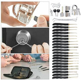 15Pcs / 24Pcs Lock Entriegelungs-Picking-Tool-Set mit 3 transparenten Übungs-Trainingssperren