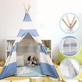 Triangle Kids Tent Canvas Sleeping Dome Play-Tent Teepee House Wigwam Room Children's Tent Game-House