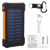 8000 mah Carregadores Solares Solar Power Bank 8000 mah Portátil Bateria Carregador de Telefone Carregador de Banco de Potência com Lanterna Elétrica