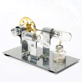 Stirling Engine Kit Motor Model DIY Educational Steam Power Toy Electricity Learning Model