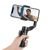 BlitzWolf® BW-BS14 Pro 3 Axis Gimbal Stabilizer with Dual Zoom Movable Time-lapse Foldable Selfie Sticks Tripod for Action Camera Phone