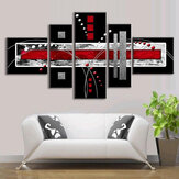5 STKS Abstract Wall Art Rood Zwart Grijs Modern Canvas Print Schilderijen Home Decorations
