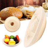 HechoamanoovalredondoBanneton Bortform ratán de almacenamiento de pasta de pan forro de prueba