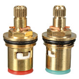 2 stks 1/2 inch Kwartslag Tap Valve Cartridge Messing Keramische Disc Hot Koud Vervangen