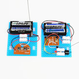 2PCS Small Hammer DIY Toy Model Wireless Telegraph Transmitter Receiver Module Educational Kit