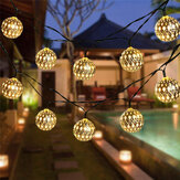5M/6.5M/7M LED Solar Garden String Light Outdoor Moroccan Hanging Lantern Fairy Lamp